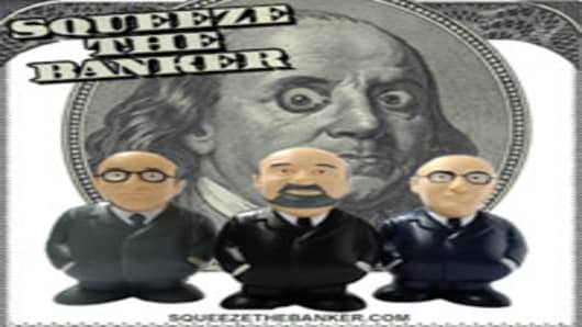 Squeeze the Banker toy