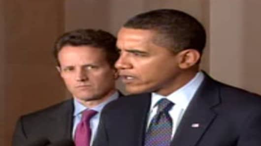 President Obama and Tim Geithner