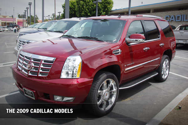 If you're in the market for a Cadillac you expect serious savings:Cadillac Escalade: Selling for around 70k, you can get $6,500 off immediately as an incentive to buy. GM is also offering 0% financing.Cadillac XLR: The most expensive car on the lot with a base price of $82,000 (more decked-out models cost closer to $100,000). You can now snag the $82,000 model of the XLR for about $72,000, plus tax and licensing fees. Dealers say that you can expect to get markdowns of $12-14,000 in dealer cash