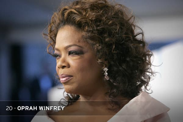 A hug—or a plug—from O on The Oprah Winfrey Show is pretty much all you need to spur sales of anything, be it scented candles or obscure novels. The first female black billionaire in U.S. history, Winfrey started out as a local talk-show host; today, she runs an influential, if comparatively small, media conglomerate that publishes books and produces television shows, movies, and radio programs.THE STAT: Winfrey is now estimated to be worth almost $3 billion.