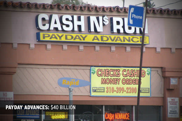 Payday lending is a controversial, yet widely used component of the consumer financing industry, with about $40 billion in short-term loans extended to cash-strapped working individuals, according to the Community Financial Services Association of America. A payday advance is a small, unsecured short-term loan, normally between $100-$500 with typical interest rates between 15-20 percent and maturities of about 14 days. The idea behind this lending is that people who need fast cash can use their