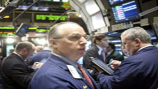 A New York Stock Exchange trader.
