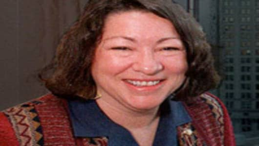 Sonia Sotomayor, US Appeals Court Judge, 2nd US Circuit Court of Appeals.