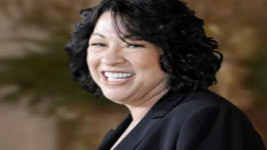 Sonia Sotomayor, as nominee for US Supreme Court Justice.