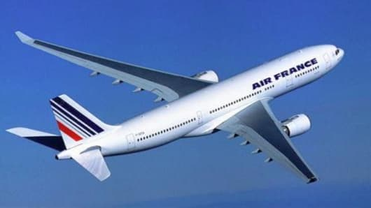 Air France Airbus A330-200 jet in flight