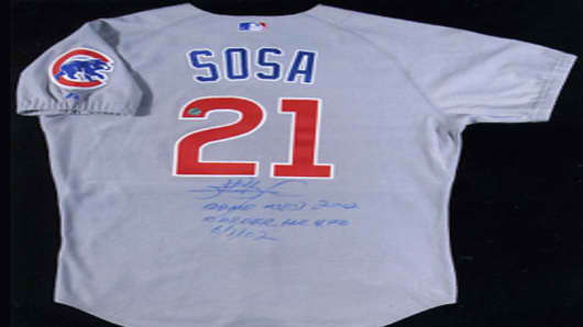 Sammy Sosa Cubs Jersey Back