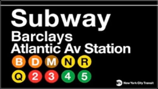 fake Barclays-Atlantic Ave New York MTA subway sign