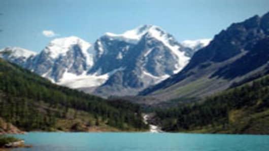 The Altai Mountains in Siberia, Russia