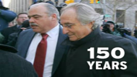 Madoff sentenced to 150 Years