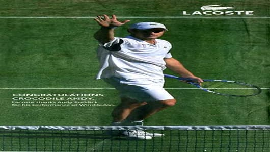 Lacoste Ad with Andy Roddick