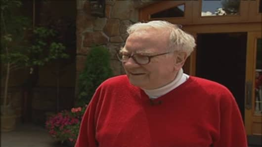 Warren Buffett during his CNBC interview today, July 9, at Herb Allen's Sun Valley media conference
