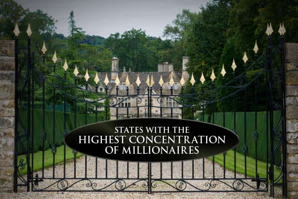 annual list of states with the highest percentage of millionaires by population shows the number has decreased nationwide. The study defines millionaire households as those with $1 million or more in investable or liquid assets (excluding sponsored retirement plans and real estate), and found that the number of millionaires in the US declined 14 percent since 2007. This year's list shows that 5,139,385 American households — 4.46 percent of the total — were defined as millionaires.So, where are