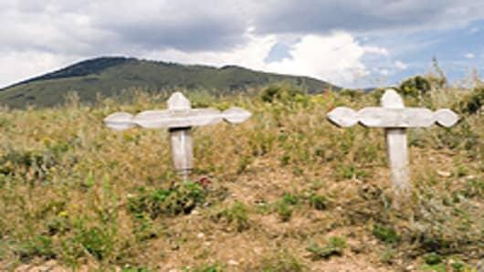 Home burial crosses
