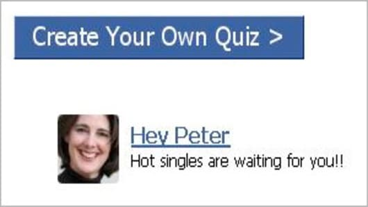 The third-party ad on Facebook using Cheryl Smith's image.