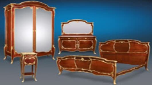 Louis XV-style, bedroom set by François Linke circa 1870