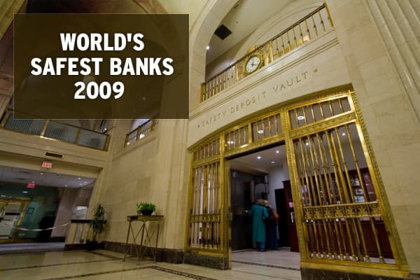 Source: Global Finance: World's 50 Safest Banks, European Central Bank, Other Central Banks