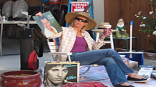 Jane Wells at a garage sale