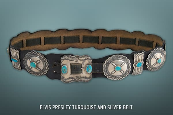 The King owned and wore this belt in the 1970s. It sold at auction in March of 2008 for $24,906.