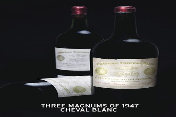 This 1940's bottle of a Merlot and Cabernet blend is expected to draw an estimated $40,000 to $60,000 at auction.