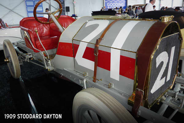 This 1909 Stoddard Dayton sold at auction in August 2009 for $110,000. It is one of 40 known to still exist.