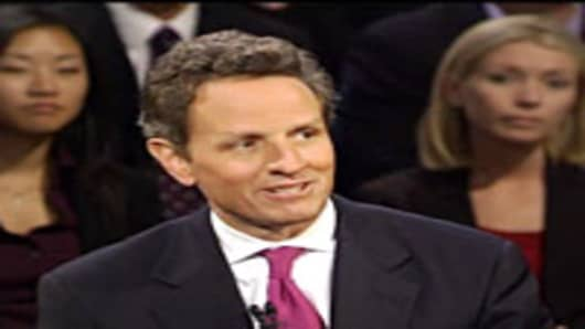 Geithner Townhall meeting