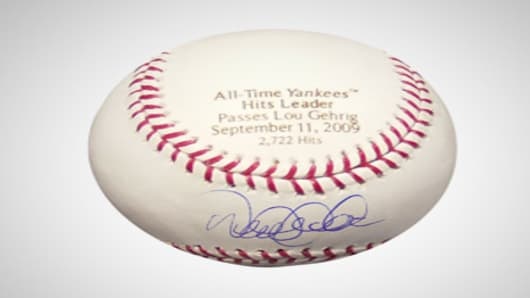 Jeter signed baseball