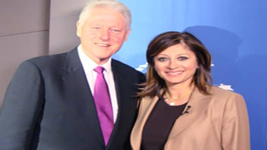 Bill Clinton and Maria Bartiromo