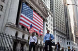 Outside the New York Stock Exchange in lower Manhattan.