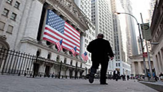 New York Stock Exchange, lower Manhattan, New York City.