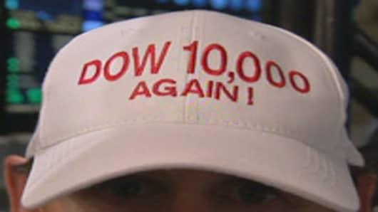 """""""Dow 10,000 Again"""" hat"""