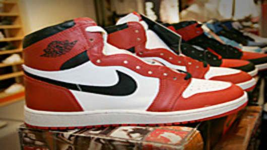Original Nike Air Jordan basketball shoe