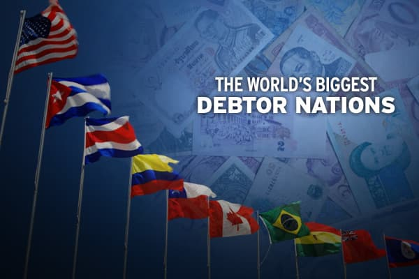 Source: External debt information from The World Bank, GDP information from the CIA World Factbook.