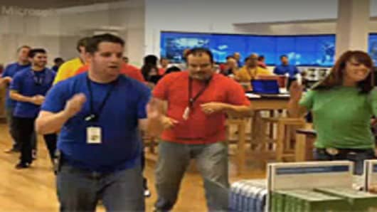 Microsoft Store - Breaks Out into Song