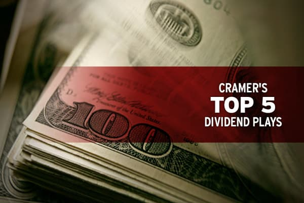 """If I had to pick one attribute that I most like to see in a stock,"" Cramer says in his new book, Getting Back to Even, ""it's a safe, sizable dividend.""Once considered stodgy and boring, dividend-paying stocks were used mostly to protect an investor's portfolio. The regular cash payout helped to balance out losses from other holdings. But these companies took on new meaning after the 2008 crash, at least for Cramer.The declines we saw after the fall of Lehman Brothers gave rise to a group of sto"