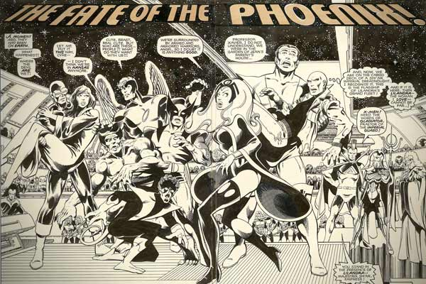"Artist: John Byrne and Terry AustinRealized: $55,200Page 2 and 3, ""The Fate of the Phoenix"" (Marvel, 1980)"