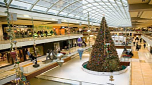 Christmas tree in Galleria Mall in Houston, Texas