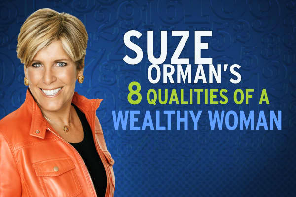 "It takes more than money to become a wealthy woman, according to financial expert Suze Orman. It also requires happiness, courage, balance and harmony.A wealthy woman is ""generous, clean, wise and therefore beautiful,"" Orman explains, and she brings these qualities into every relationship, carrying them with her in every moment of life.So what does it take to be a truly ""wealthy woman?"" Click ahead to see what Suze Orman has to say."