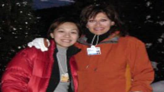 Maria & Lulu's first trip to Davos together in January 2006