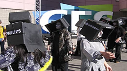 Green protesters at CES 2009.