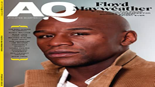 Floyd Mayweather on the cover of the premier isue of Athlete's Quarterly.