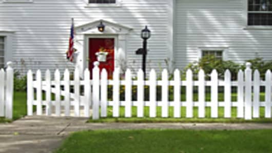 home with fence