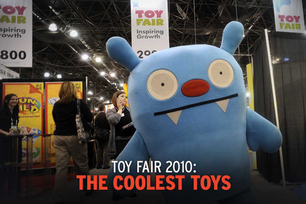 Judging by the toys featured at the American International Toy Fair, the industry isn't ready just yet to place huge bets on an economic recovery. Toymakers are sticking with many of the trends that worked last year and are keeping prices low. One big theme is toys that take advantage of the falling prices of tech components.Games the whole family can play, especially those that encourage kids to get up on their feet and get moving, are also very popular. As are products that spark the imaginati
