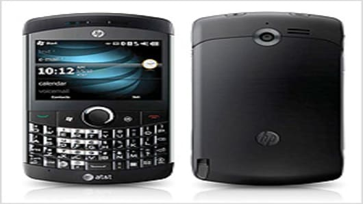 The iPaq Glisten smartphone by Hewlett-Packard.