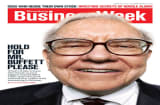 Business Week magazine cover: Hold for Mr. Buffett Please
