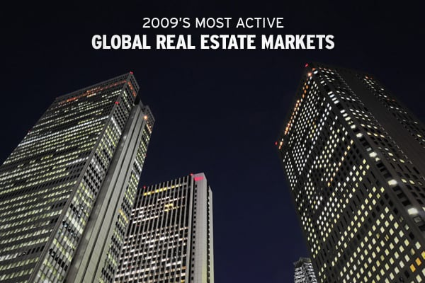 "In a global economy plagued by a depressed real estate market, investors in commercial and investment-grade real estate saw volumes drop significantly in countries that traditionally experience large investment inflows.According to the ""Global Investment Atlas 2010"" report recently released by , global investment activity for investment-grade real estate fell 23% in 2009 to $365 billion, the lowest level since 2003. The numbers could have been much worse, however, as the year trended upwards in"