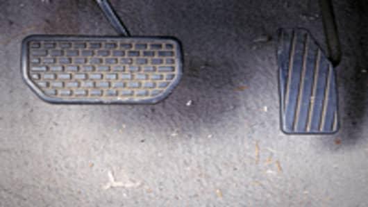 Brake and accelerator