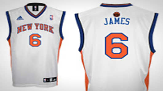 Hypothetical new jersey for LeBron James