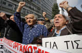 Pensioners protest against austerity measures