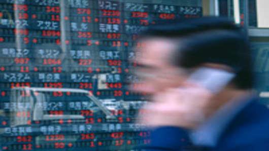 Tokyo stock screens