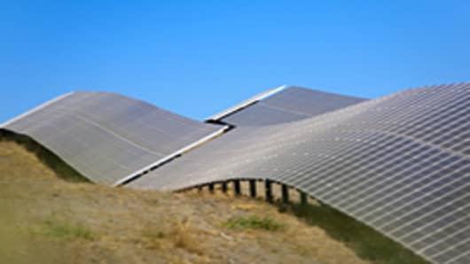Solar plant in Lucainena de las Torres, Almeria, Andalucia, Spain